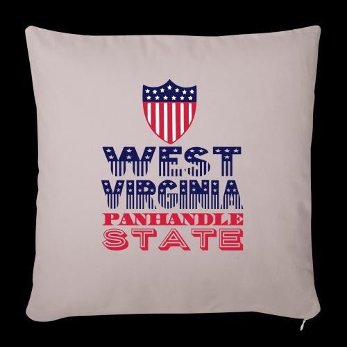 west virginia panhandle - Sofa pillowcase 17,3'' x 17,3'' (45 x 45 cm)