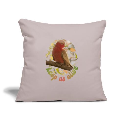 Galah Parrot Keep Us Alive 70s background - Sofa pillowcase 17,3'' x 17,3'' (45 x 45 cm)