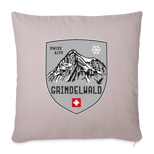 Grindelwald Switzerland coat of arms - Sofa pillowcase 17,3'' x 17,3'' (45 x 45 cm)
