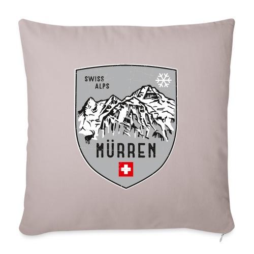 Murren Switzerland coat of arms - Sofa pillowcase 17,3'' x 17,3'' (45 x 45 cm)