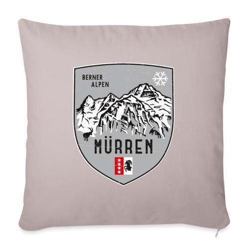 Eiger, Mönch und Jungfrau mit Mürren Flagge - Sofa pillowcase 17,3'' x 17,3'' (45 x 45 cm)
