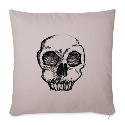 Skull sketch - Sofa pillowcase 17,3'' x 17,3'' (45 x 45 cm)