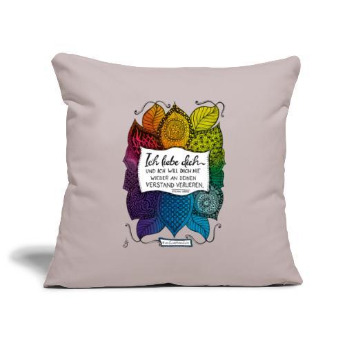 Ich liebe dich - Rainbow Version - Sofakissenbezug 44 x 44 cm