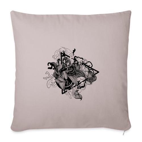 Abstract ink Doodle - Copricuscino per divano, 45 x 45 cm