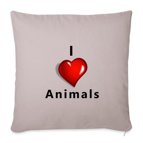i love animals - Sierkussenhoes, 45 x 45 cm