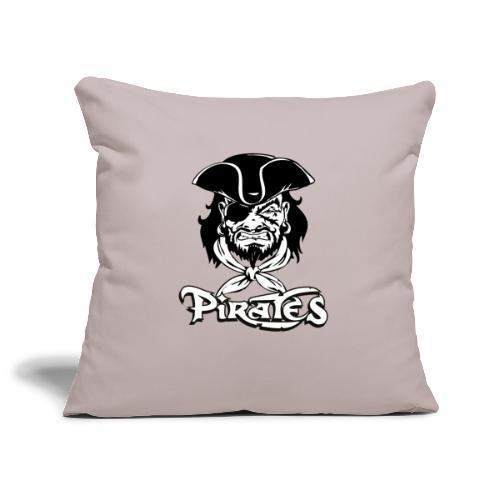 logo pirates bianco e nero - Copricuscino per divano, 45 x 45 cm