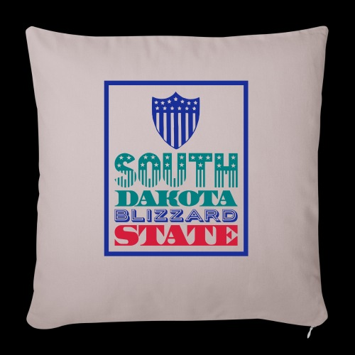 South Dakota blizzard state - Sofa pillowcase 17,3'' x 17,3'' (45 x 45 cm)