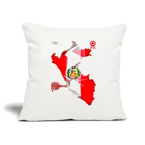 Mapa del Perú, Bandera y Escarapela - Funda de cojín, 45 x 45 cm