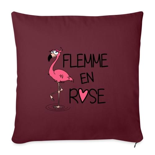 Flamant Rose / Flemme en Rose - Housse de coussin décorative 45x 45cm