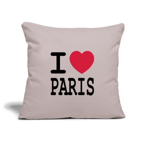 I love Paris - Sierkussenhoes, 45 x 45 cm