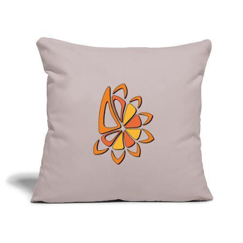 spicchi di sole caldo multicolore - Copricuscino per divano, 45 x 45 cm