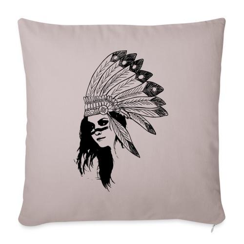 Indienne - Housse de coussin décorative 45x 45cm