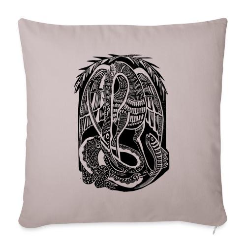 Serpiente y ave africana - Funda de cojín, 45 x 45 cm
