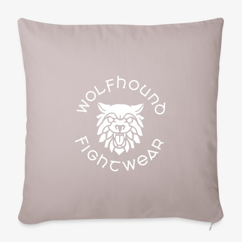 logo round w - Sofa pillowcase 17,3'' x 17,3'' (45 x 45 cm)