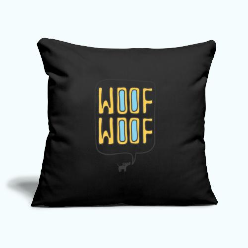 Woof Woof - Sofa pillowcase 17,3'' x 17,3'' (45 x 45 cm)