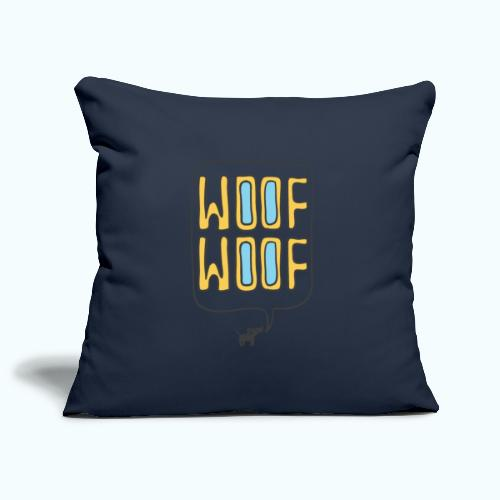 Woof Woof - Sofa pillowcase 17,3'' x 17,3'' (45 x 45 cm)