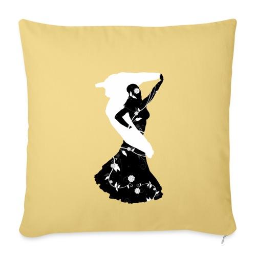 Bellydancer with veil - Sofa pillowcase 17,3'' x 17,3'' (45 x 45 cm)