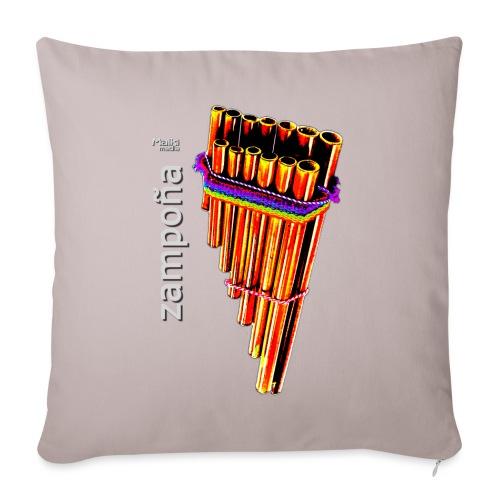 Zampoña clara - Sofa pillowcase 17,3'' x 17,3'' (45 x 45 cm)