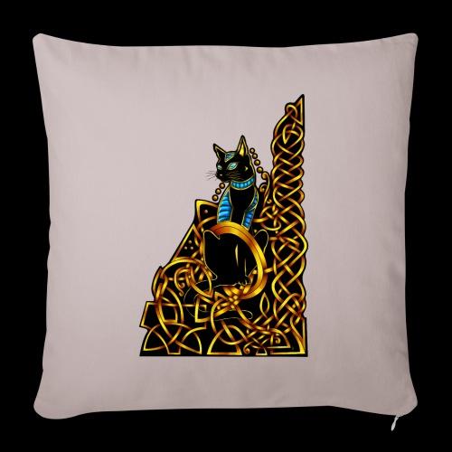 Celtic Cat - sitting - Sofa pillowcase 17,3'' x 17,3'' (45 x 45 cm)