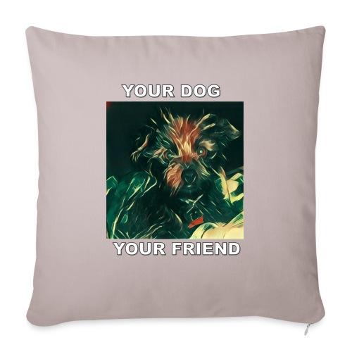 Si amas tu perro seguro amaras Esta Linea - Sofa pillowcase 17,3'' x 17,3'' (45 x 45 cm)