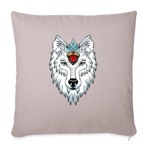 female wolf newschool - Housse de coussin décorative 45x 45cm