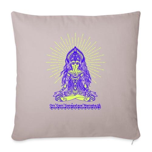 Yogafashion Hippie Ganesha dein Glücksgott - Sofakissenbezug 44 x 44 cm