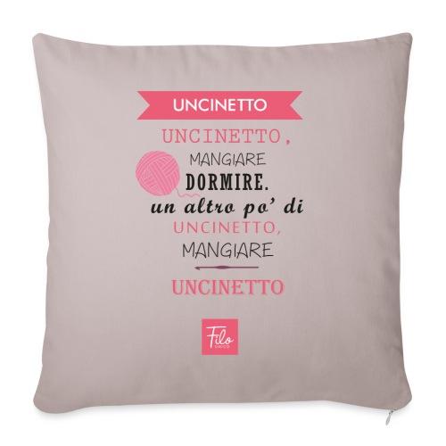 Uncinetto quotidiano - Copricuscino per divano, 45 x 45 cm