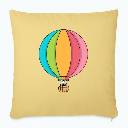 Zebra Zach Air Balloon - Soffkuddsöverdrag, 45 x 45 cm