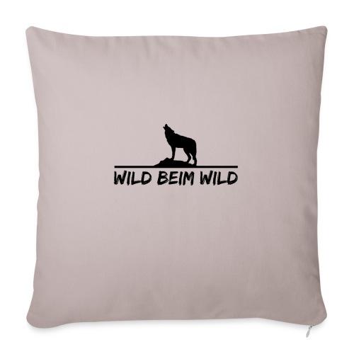 Wild beim Wild - Sofakissenbezug 44 x 44 cm