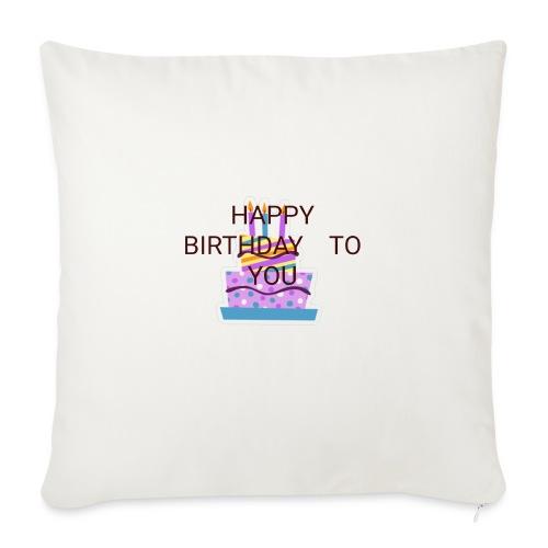 happy birthday 1 - Sofa pillowcase 17,3'' x 17,3'' (45 x 45 cm)