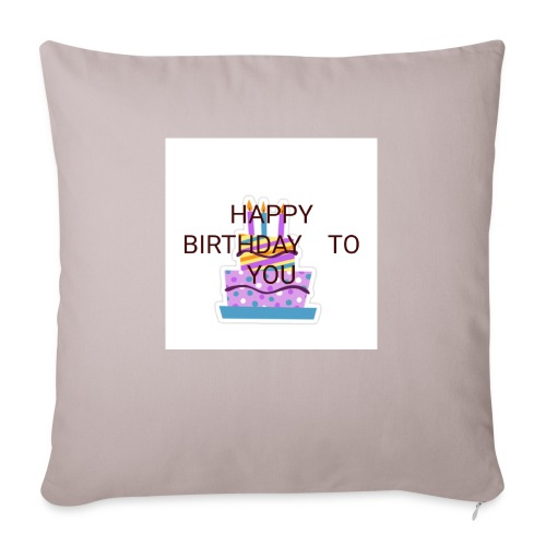 happy birthday 1 - Sofa pillowcase 17,3'' x 17,3'' (45 x 45 cm)