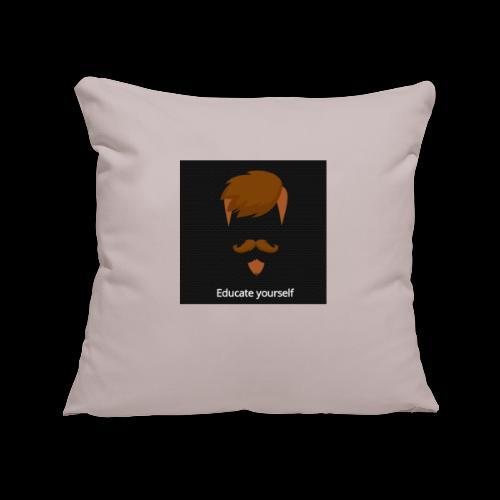 educate yourself - Sofa pillowcase 17,3'' x 17,3'' (45 x 45 cm)