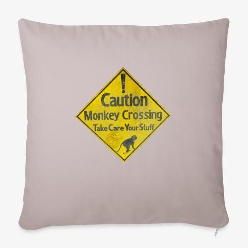 Caution Monkey Crossing - Sofakissenbezug 44 x 44 cm