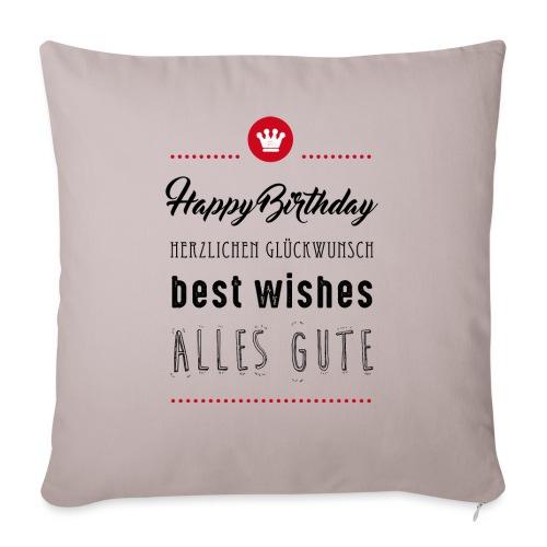 Happy birthday - Alles Gute - Sofakissenbezug 44 x 44 cm