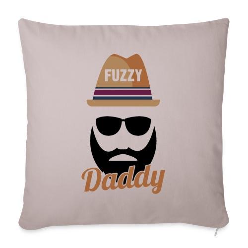 Fuzzy Daddy Hipster Beard Fathers Day Gift - Sofakissenbezug 44 x 44 cm