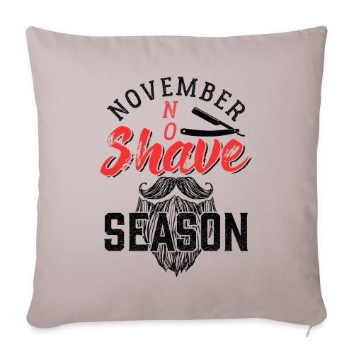 November No Shave Season Funny Vintage Beard Gift - Sofakissenbezug 44 x 44 cm