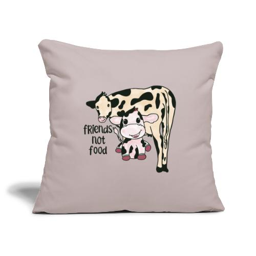 Friends not food - Sofa pillowcase 17,3'' x 17,3'' (45 x 45 cm)