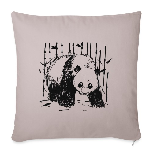 Forest walker BLACK - Sofa pillowcase 17,3'' x 17,3'' (45 x 45 cm)