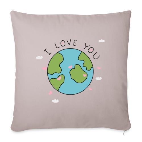 iloveyou - Copricuscino per divano, 45 x 45 cm