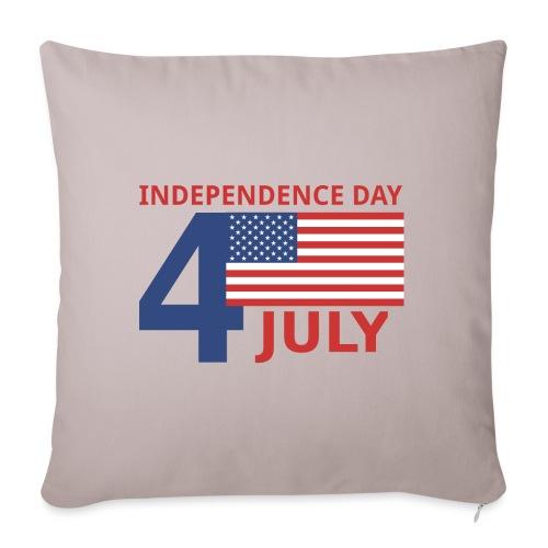 4 luglio giorno della indipendenza - Copricuscino per divano, 45 x 45 cm