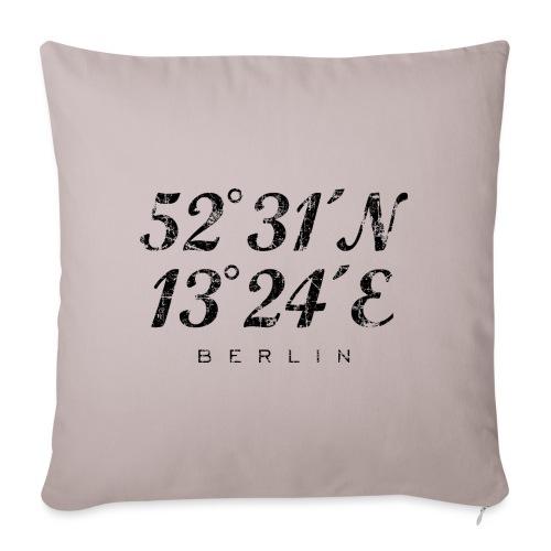 Berliner Koordinaten Berlin (Vintage/Schwarz) - Sofakissenbezug 44 x 44 cm