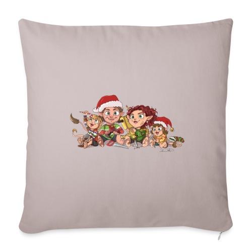 rickgoblinfamily xmas transparent - Sofa pillowcase 17,3'' x 17,3'' (45 x 45 cm)