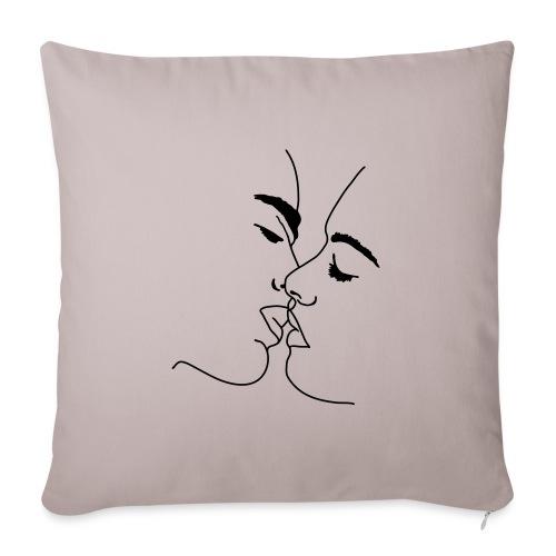 bacio labbra kb2 - Copricuscino per divano, 45 x 45 cm