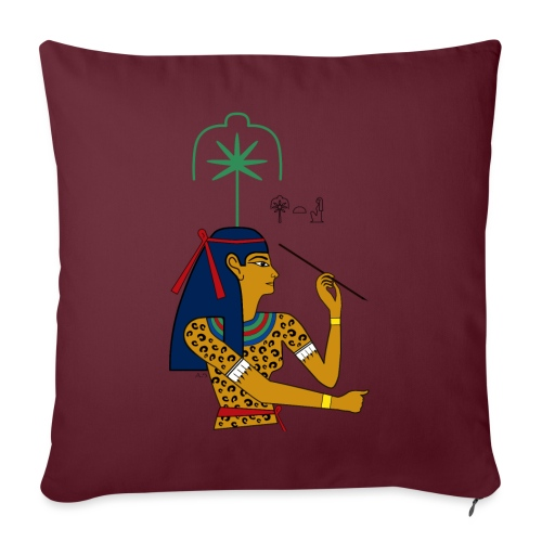 Seschat I altägyptische Göttin - Sofakissenbezug 44 x 44 cm