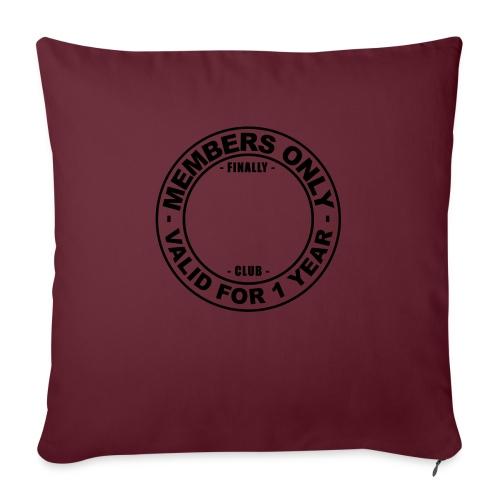 Finally XX club (template) - Sofa pillowcase 17,3'' x 17,3'' (45 x 45 cm)
