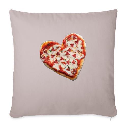 Pizza a cuore - Copricuscino per divano, 45 x 45 cm