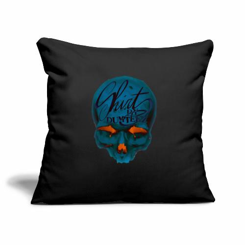 Dum Skull Orange glow - Sierkussenhoes, 45 x 45 cm