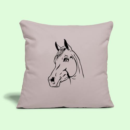 tête de cheval - Housse de coussin décorative 45x 45cm