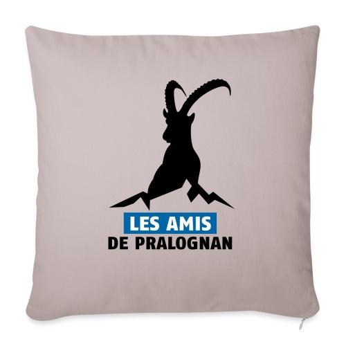 Logo Les Amis de Pralo grand noir - Housse de coussin décorative 45x 45cm