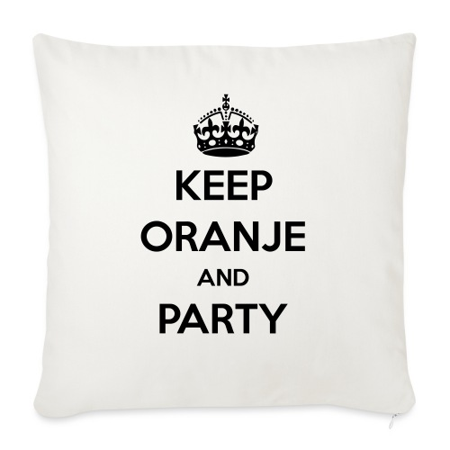 KEEP ORANJE AND PARTY - Sierkussenhoes, 45 x 45 cm